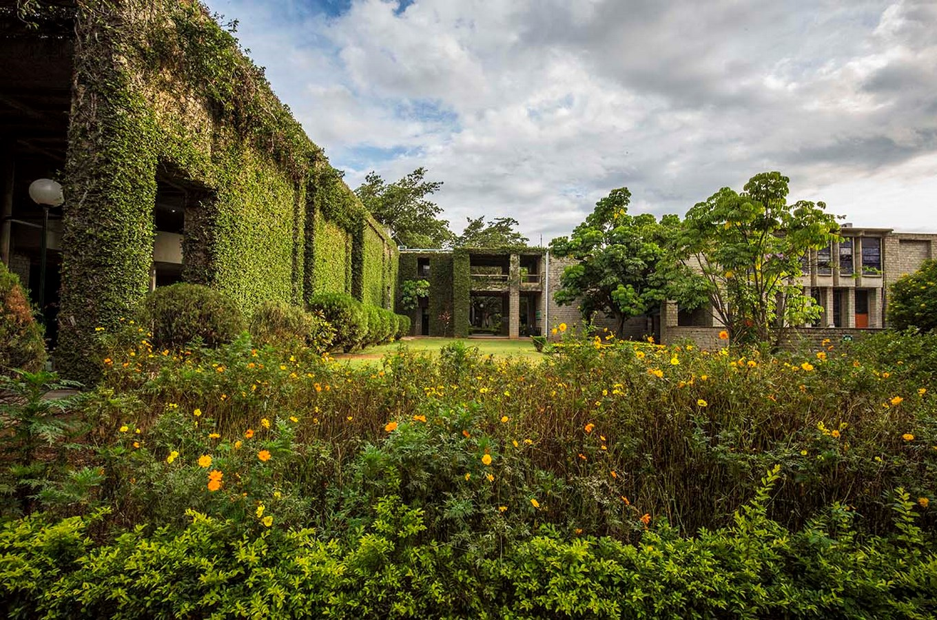 15 Works of B. V. Doshi Every Architect should visit - Indian Institute of Management, India