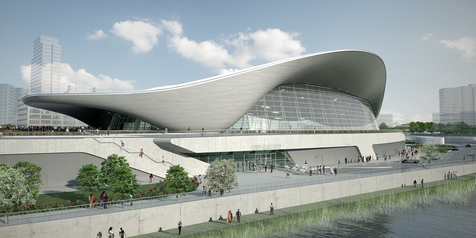 30 Projects That Define Zaha Hadid's Style - London Aquatics Centre for the 2012 Summer Olympics, UK