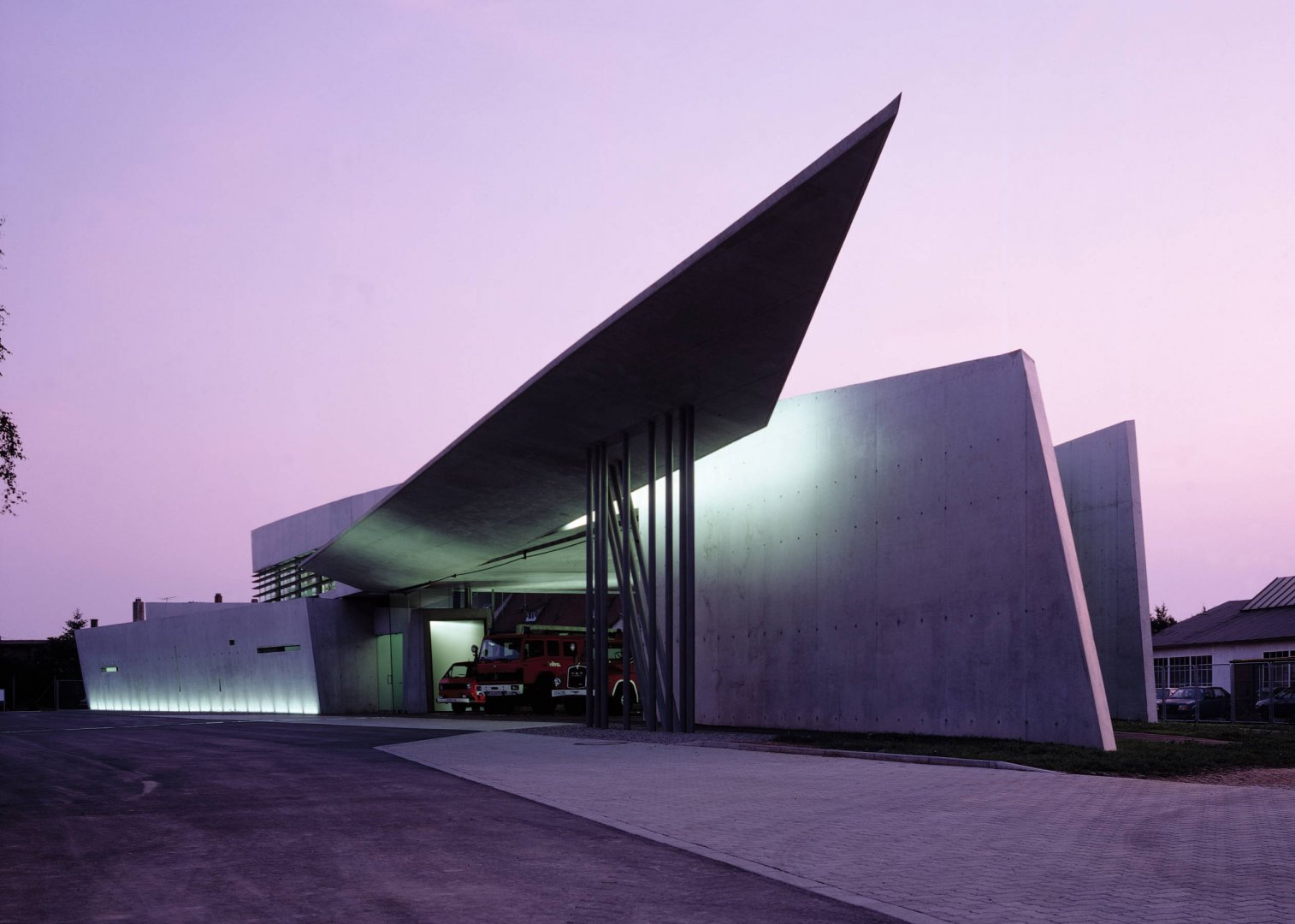 30 Projects That Define Zaha Hadid's Style - Vitra Fire Station, Germany