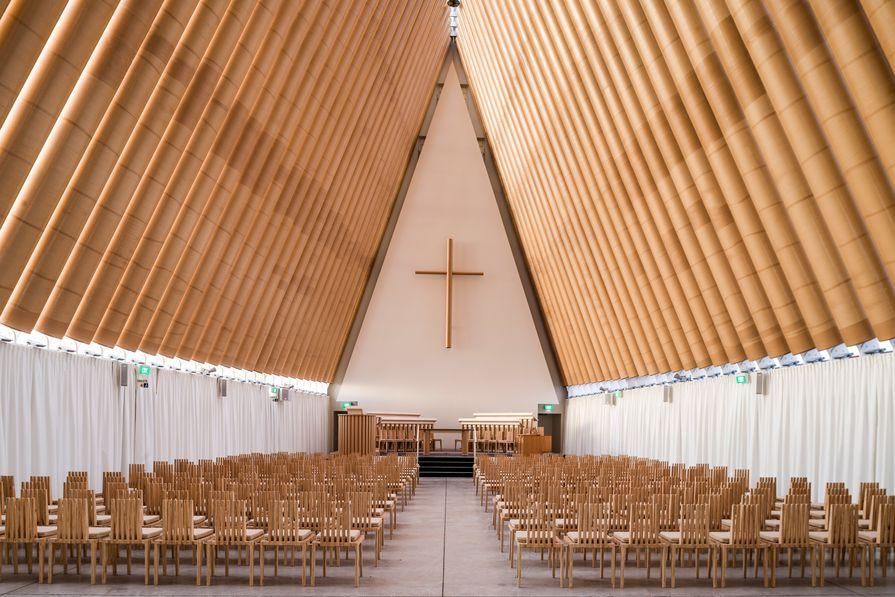 Interior View - Cardboard Cathedral