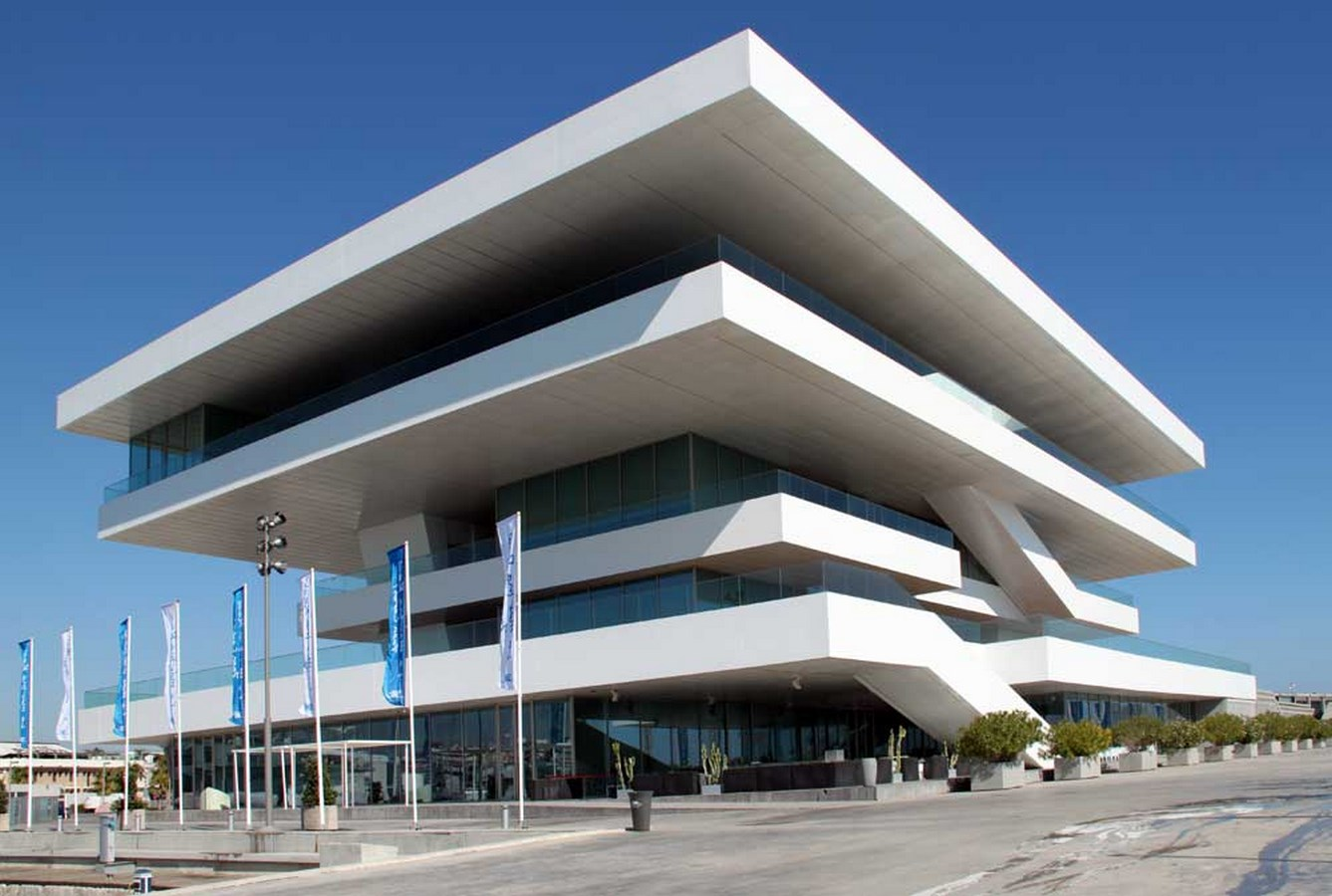 15 Projects By David Chipperfield Every Architect Must Visit! - AMERICA'S CUP BUILDING, SPAIN