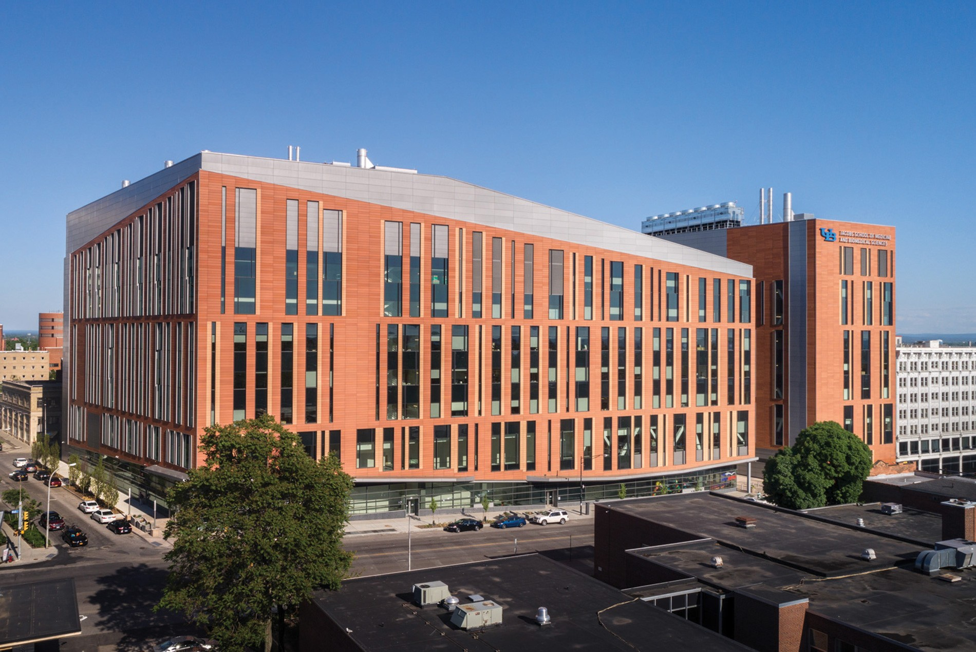 15 Projects by HOK Architects every Architect should know about - University at Buffalo Jacobs School of Medicine and Biomedical Sciences