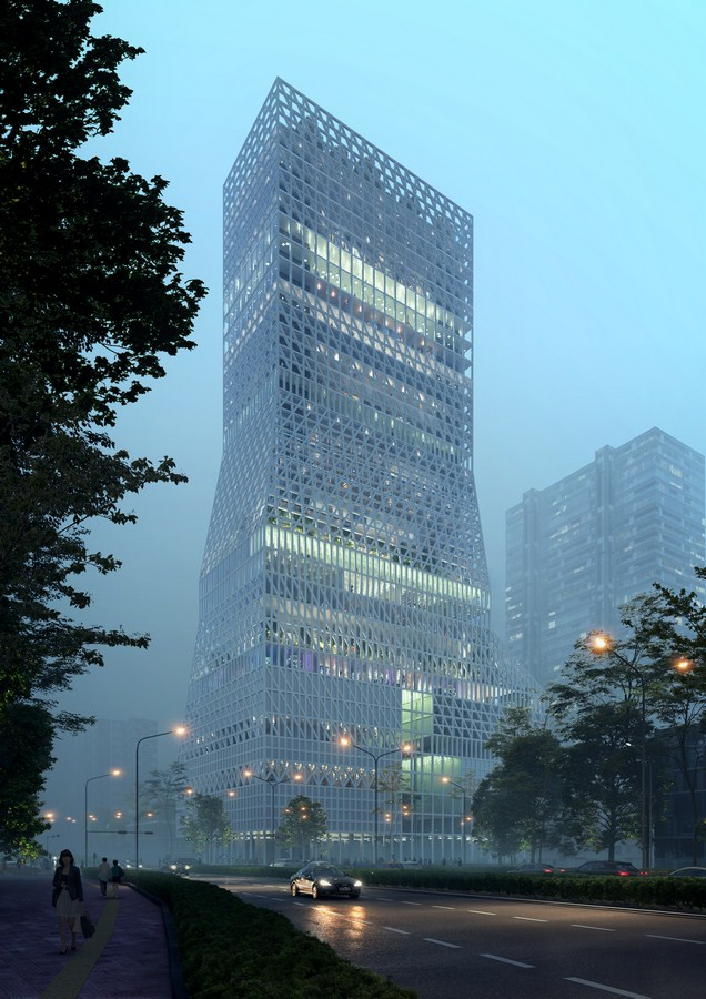 Futian Civic Culture Center By Mecanoo - Sheet7