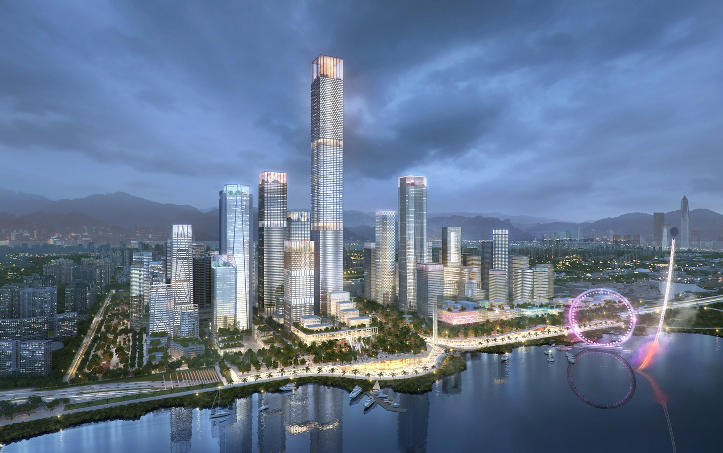 Shenzhen Bay Headquarters City by Henning Larsen - Sheet2