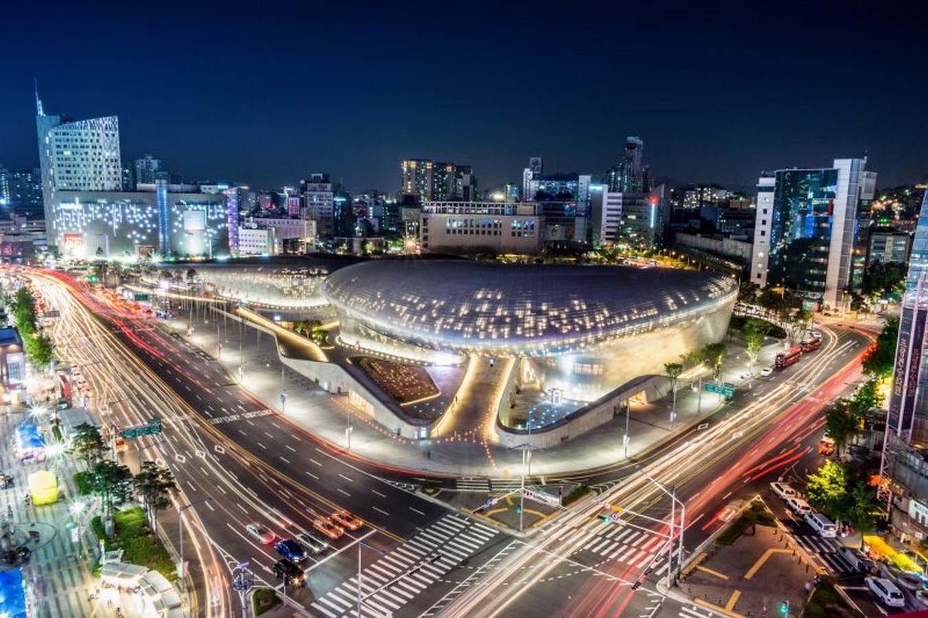 100 Best Architecture Projects of the 21st Century - Dongdaemun Design Plaza, Seoul South Korea designed by Zaha Hadid