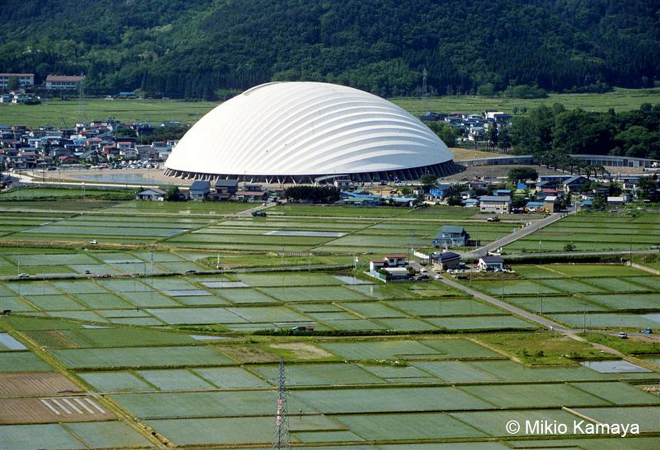 20 Hi-tech Projects by Toyo Ito Architect Every Architect should visit - Odate Dome (Nipro Hachiko Dome), Japan
