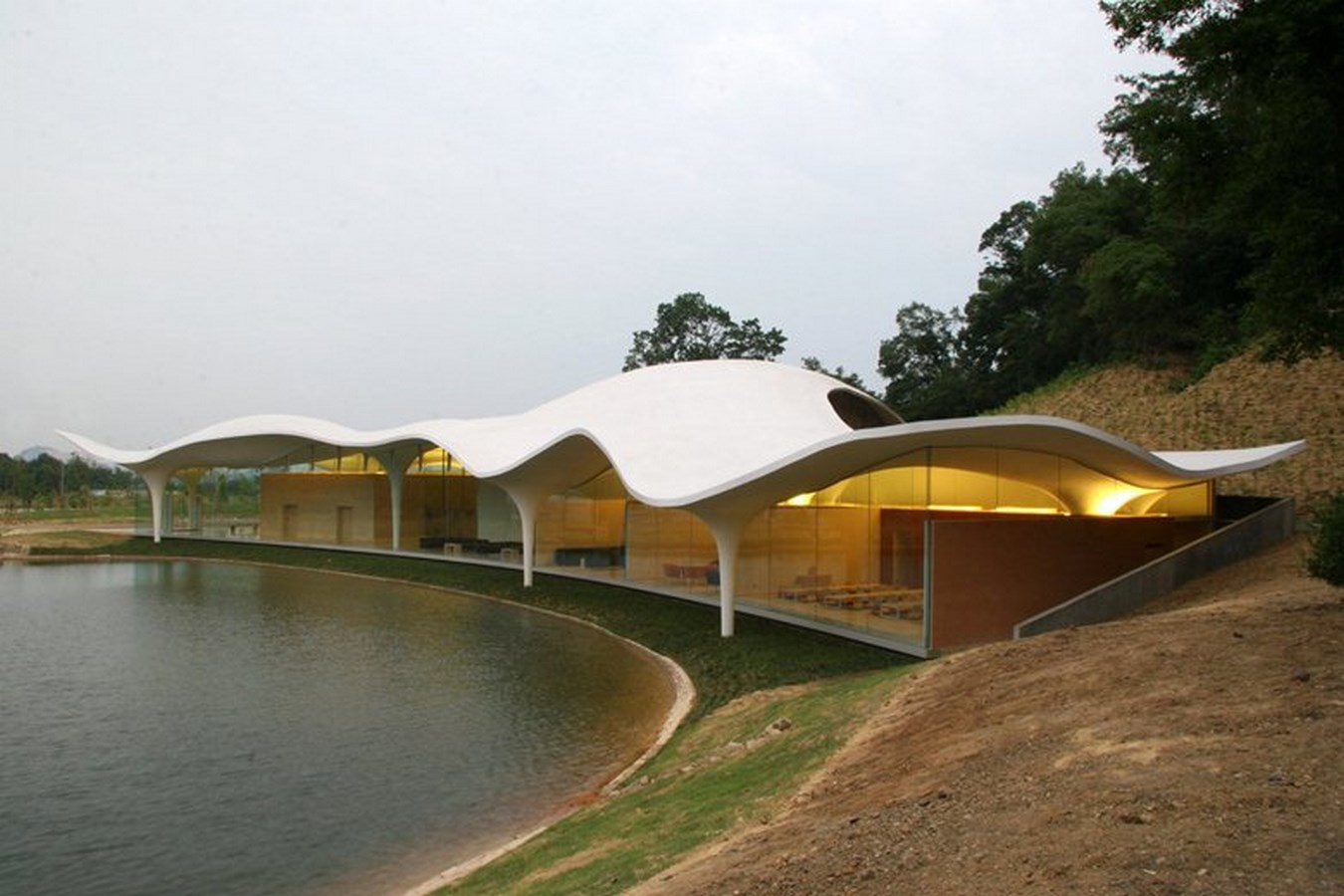 20 Hi-tech Projects by Toyo Ito Architect Every Architect should visit - Meiso no Mori Municipal Funeral Hall, Japan