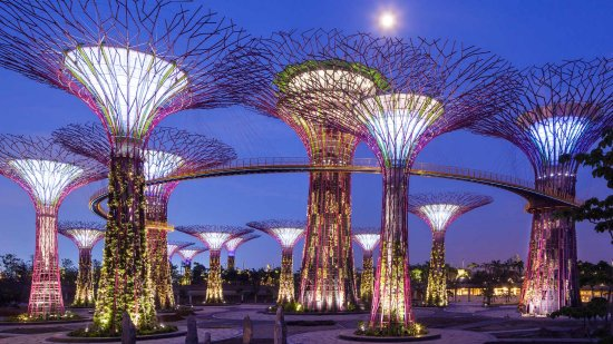 The surreal 'Gardens By the Bay' project - source Rem Koolhaas – Singapore Songlines, 1995