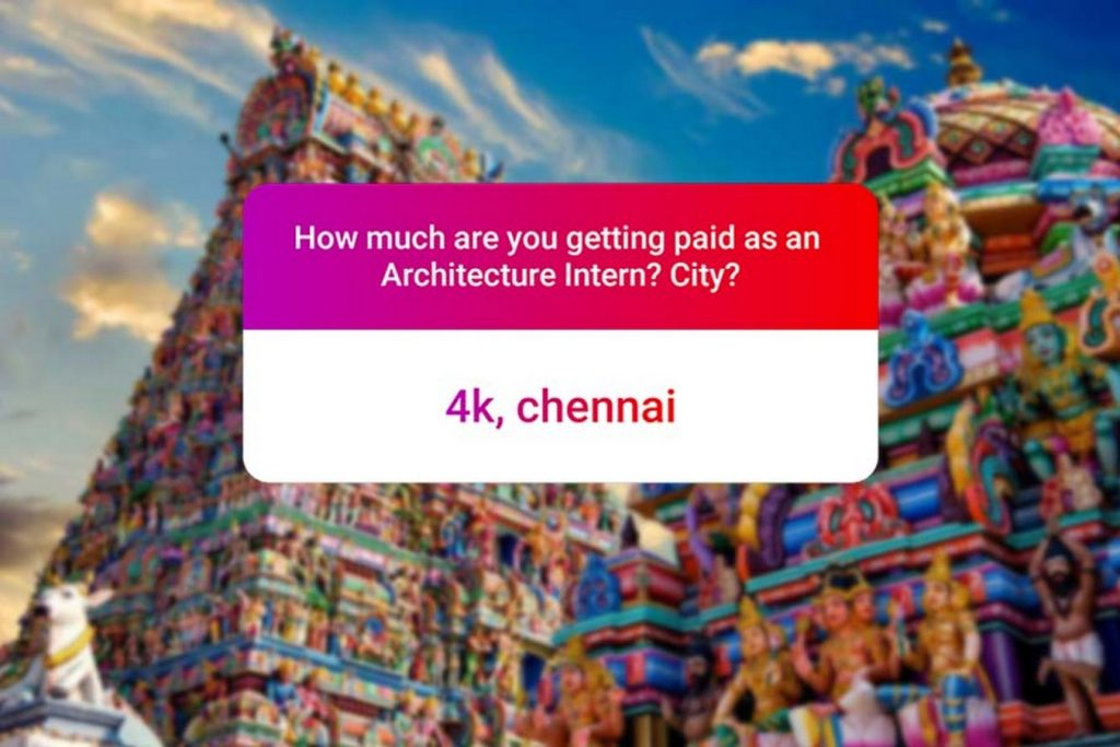 We asked how much Architecture interns get paid in India.. and the results are SAD and HILARIOUS at the same time - Chennai