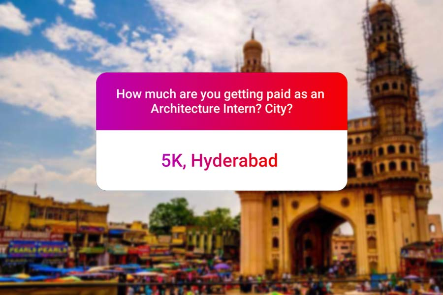 We asked how much Architecture interns get paid in India.. and the results are SAD and HILARIOUS at the same time - Hyderabad