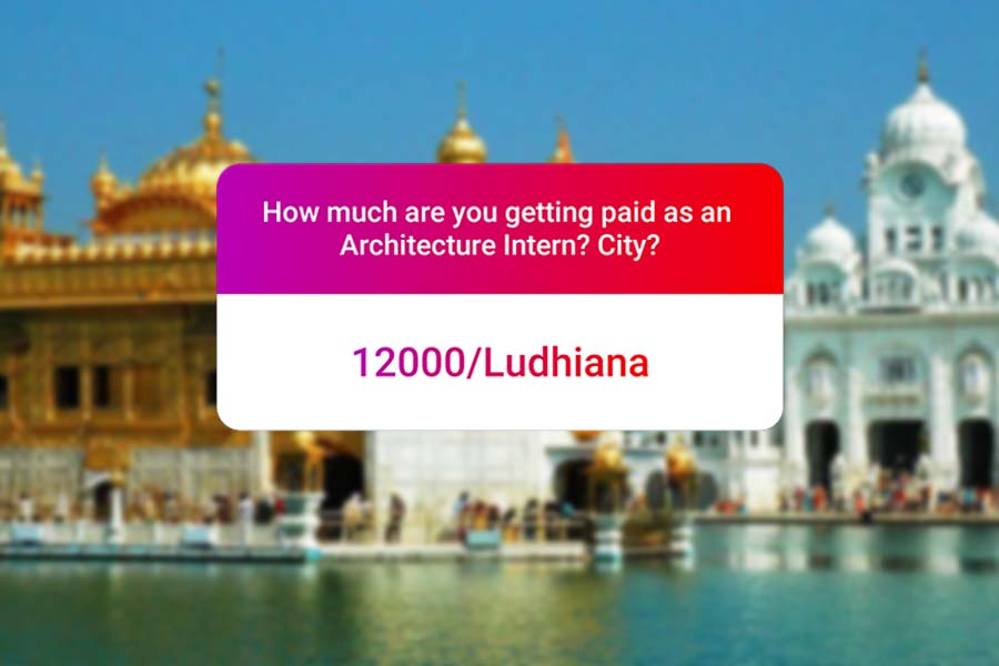 We asked how much Architecture interns get paid in India.. and the results are SAD and HILARIOUS at the same time - Ludhiana