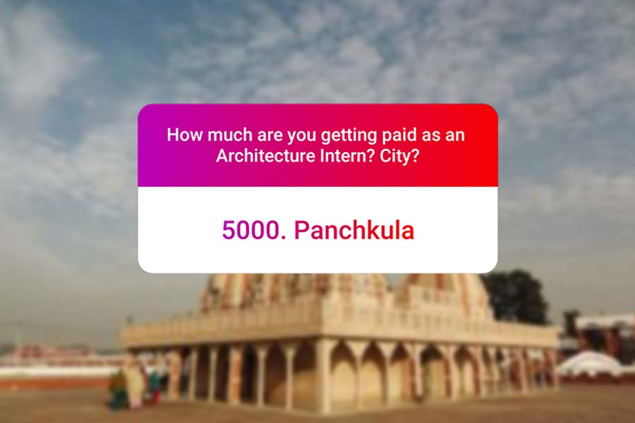 We asked how much Architecture interns get paid in India.. and the results are SAD and HILARIOUS at the same time - Panchkula Haryana