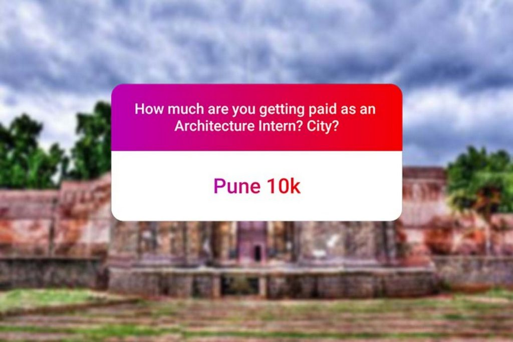 We asked how much Architecture interns get paid in India.. and the results are SAD and HILARIOUS at the same time - Pune
