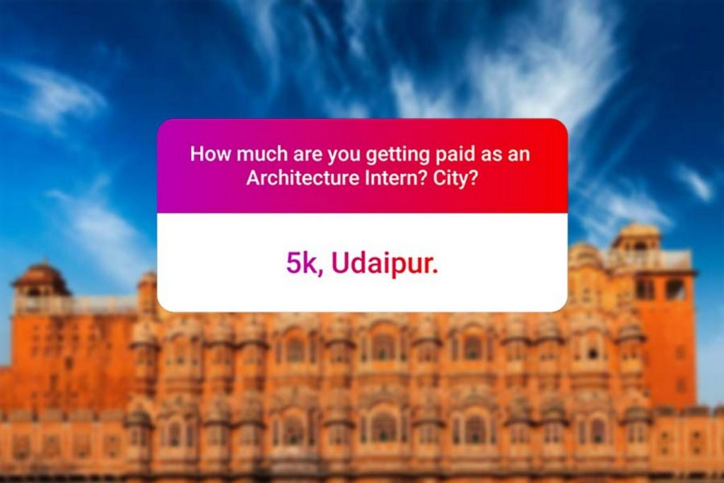 We asked how much Architecture interns get paid in India.. and the results are SAD and HILARIOUS at the same time - Rajasthan