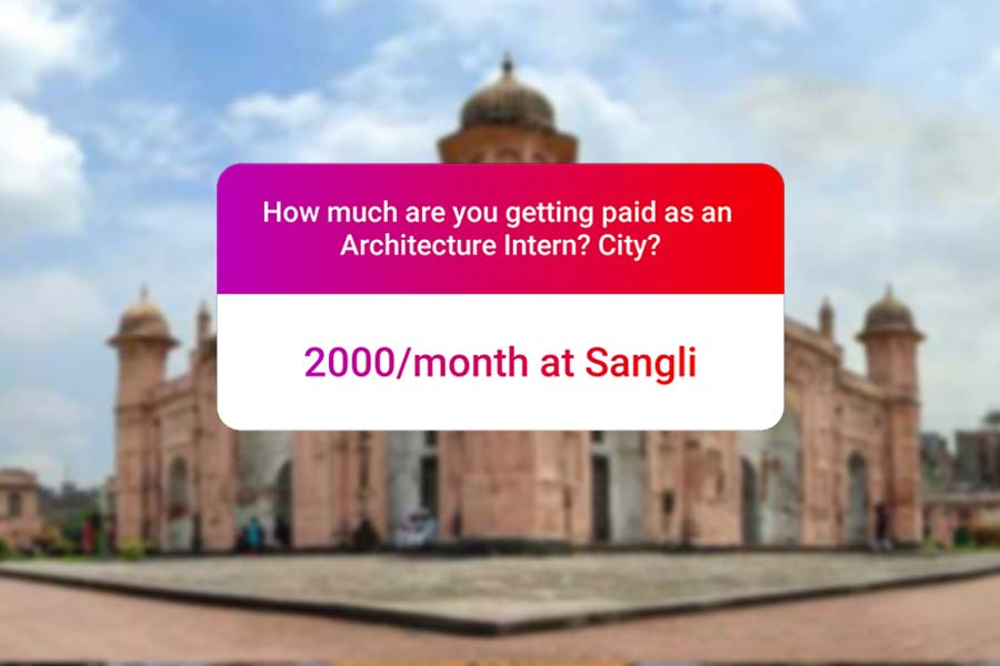 We asked how much Architecture interns get paid in India.. and the results are SAD and HILARIOUS at the same time - Sangali