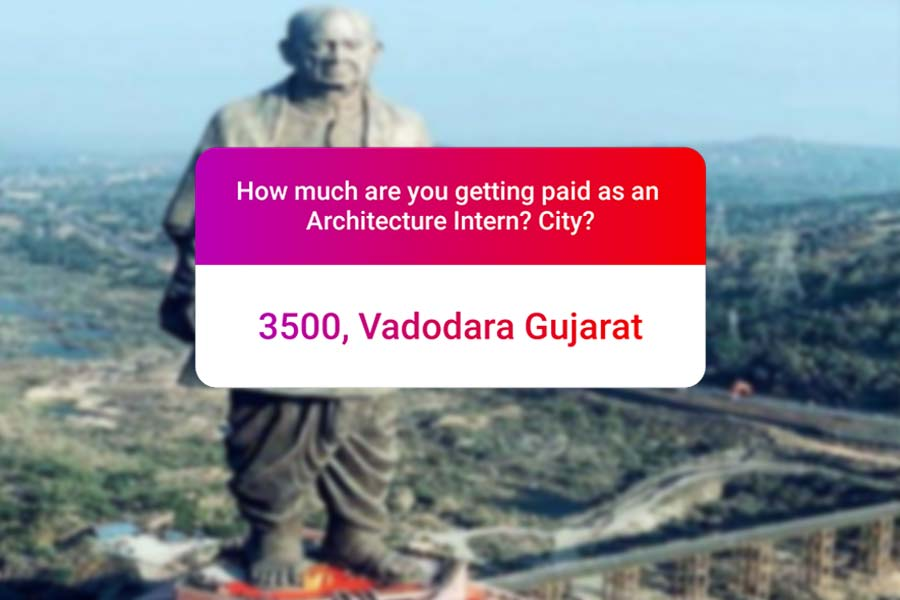 We asked how much Architecture interns get paid in India.. and the results are SAD and HILARIOUS at the same time - Vadodara
