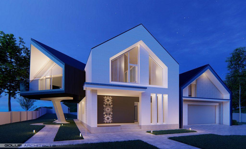 Strut House By Golub Architects - Sheet1