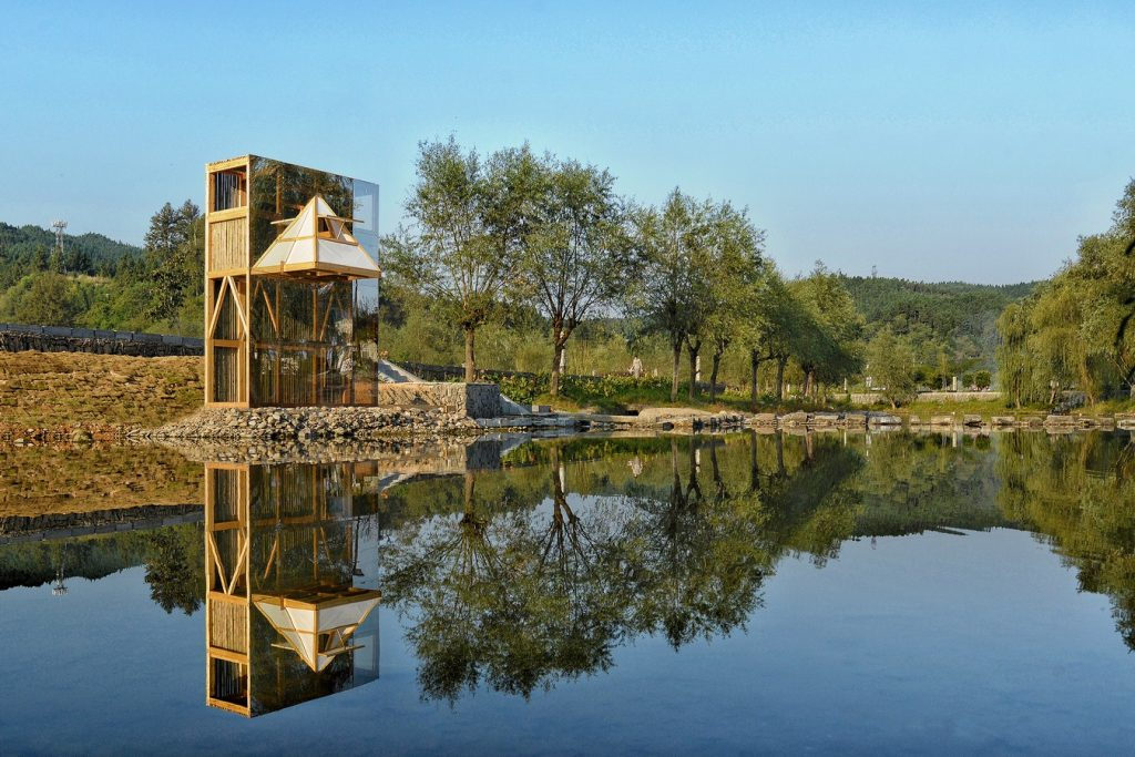 Mirrored Sight Shelter By One Take Architects - Sheet9