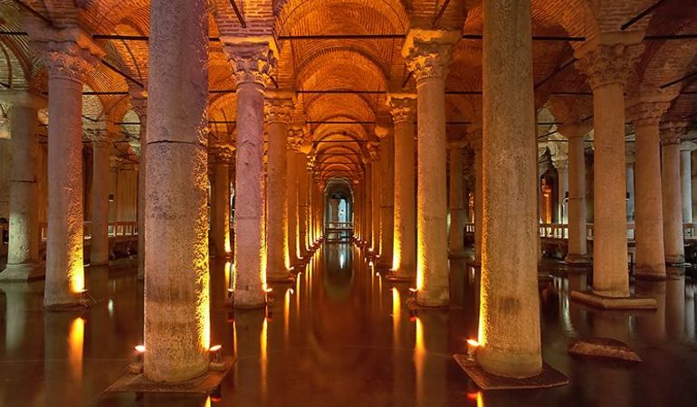 15 PLACES IN INSTANBUL- BASILICA CISTERN - Sheet1