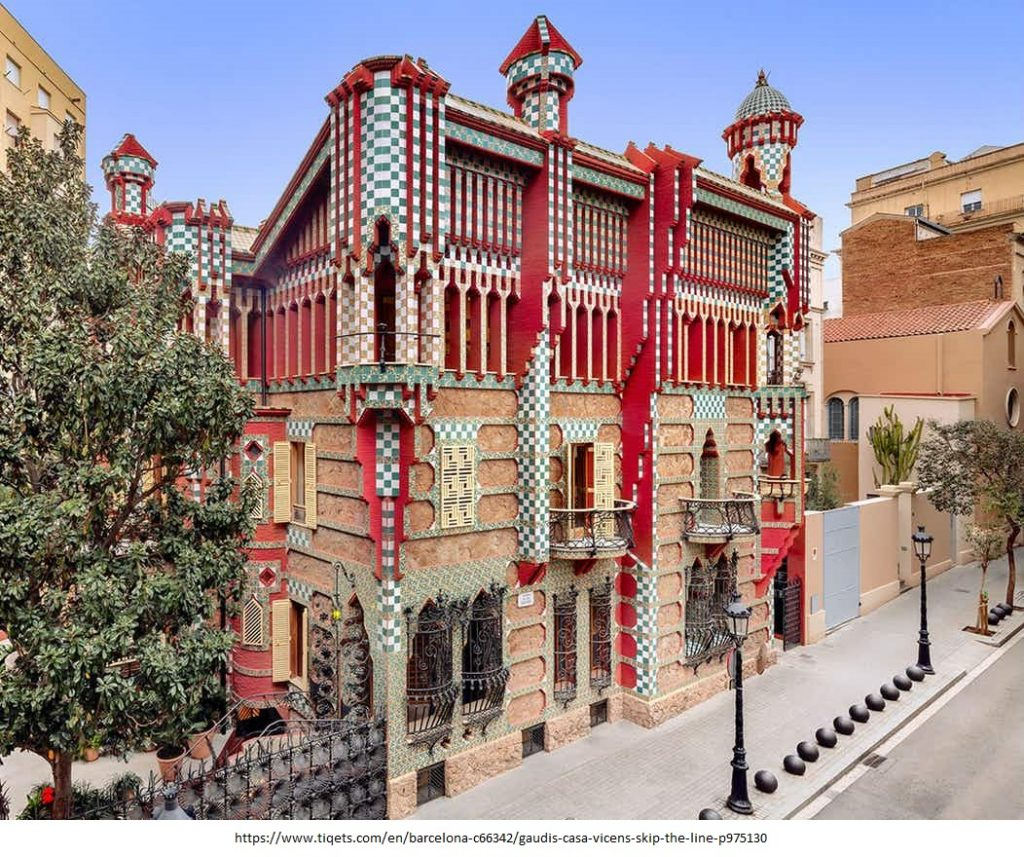15 Projects by Antoni Gaudi- CASA VICENS
