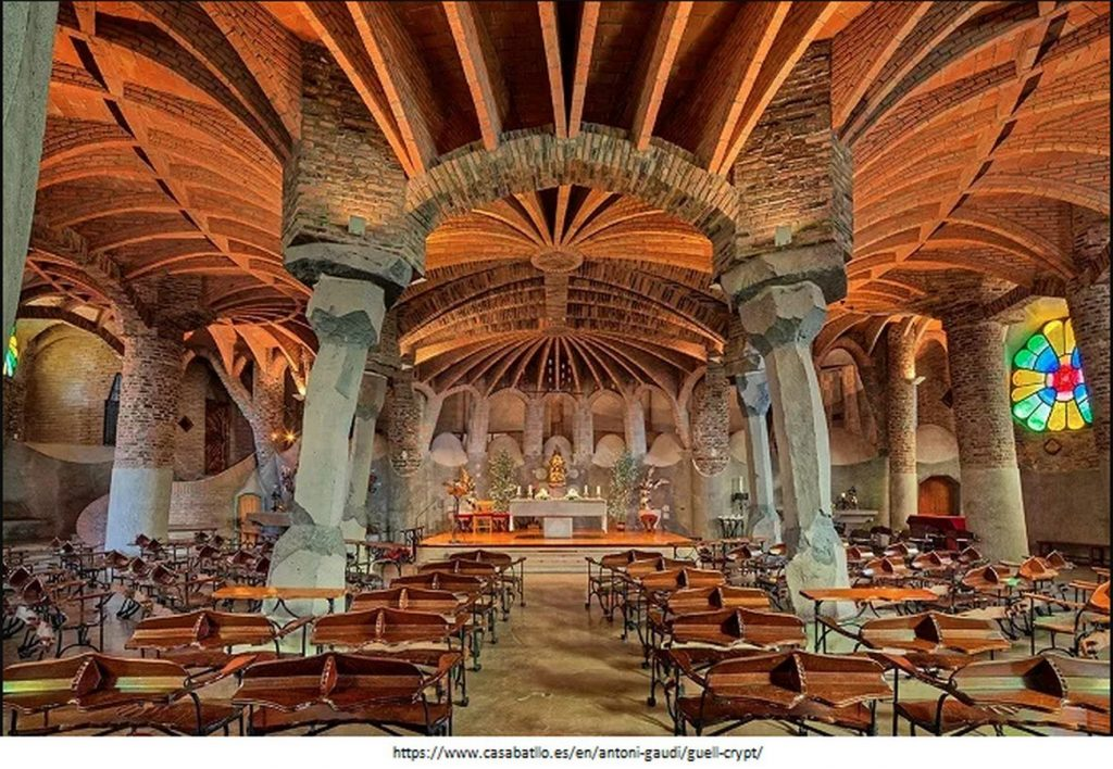 15 Projects by Antoni Gaudi- CHURCH OF COLONIA GUELL