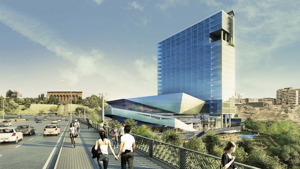 Architects in Glasgow - 40 Top Architecture firms in Glasgow - Hrazdan Gorge Mixed Use, Armenia by AHR
