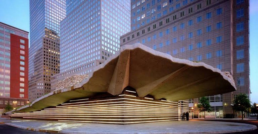 Architecture Firms in New York: Irish Hunger Memorial, Manhattan New York by 1100 Architects