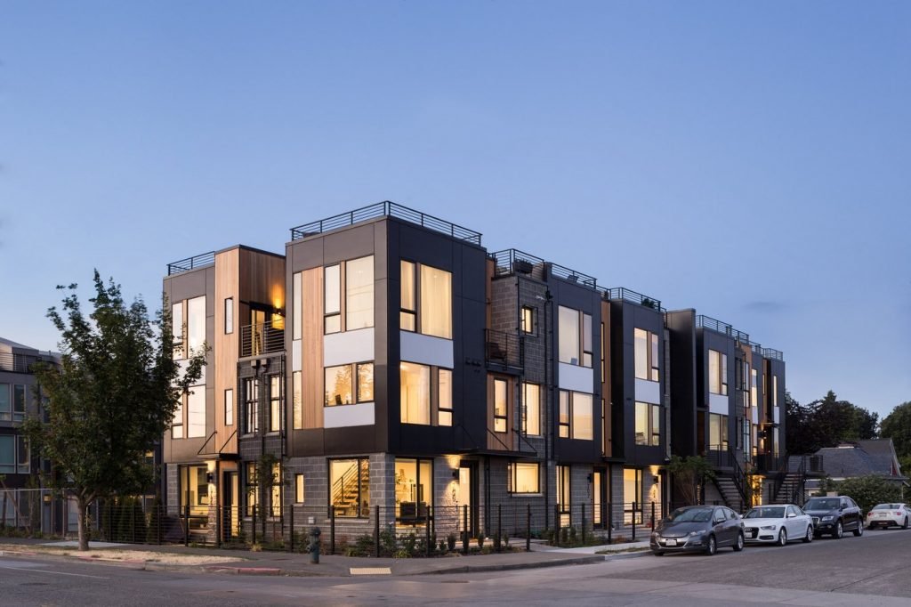 Architects in Seattle   Top Architecture Firms in Seattle - Corson Rowhouses by B9