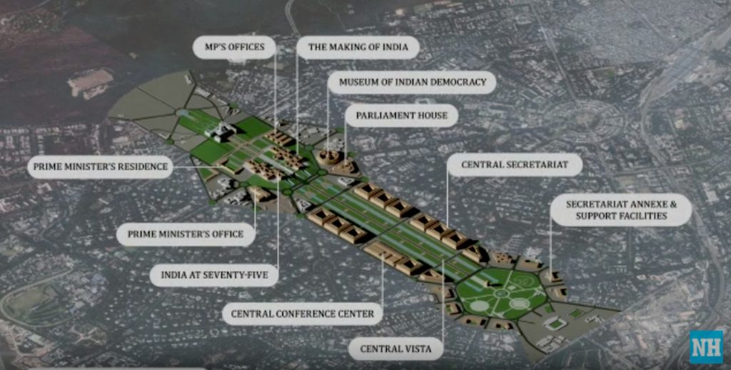 Ahmedabad based Ar. Bimal Patel's HCP on redevelopment of Central Vista Common Central Secretariat and Parliament in Delhi - sheet2