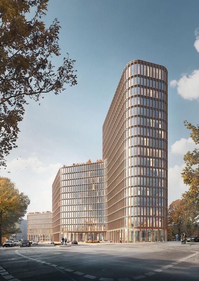 Office high-rise at Nordhafen by Kleihues + kleihue