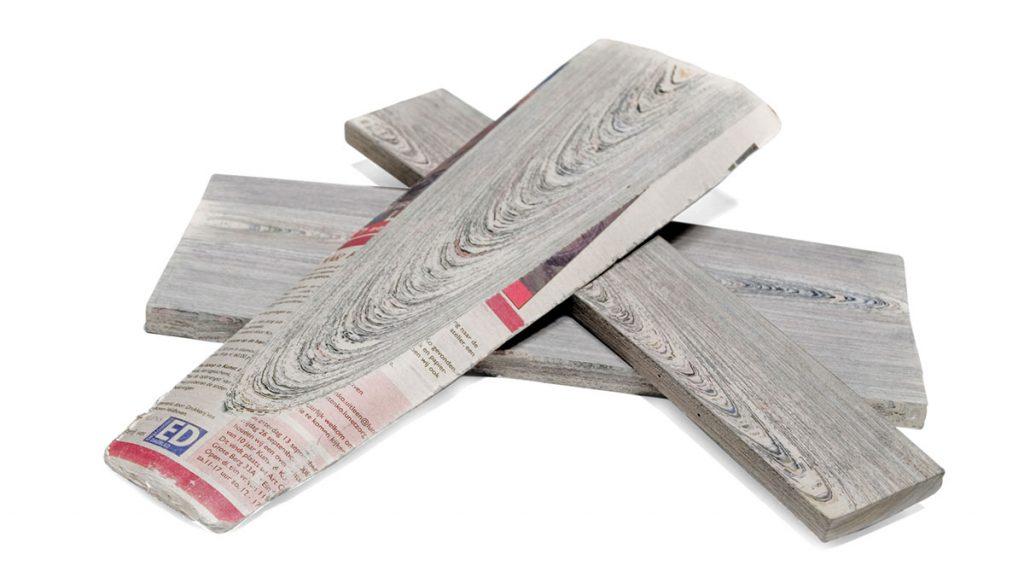 NEW MATERIALS- 2. NEWSPAPER WOOD IMAGE 1