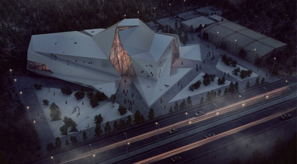 Polour Rock climbing hall by New wave Architecture