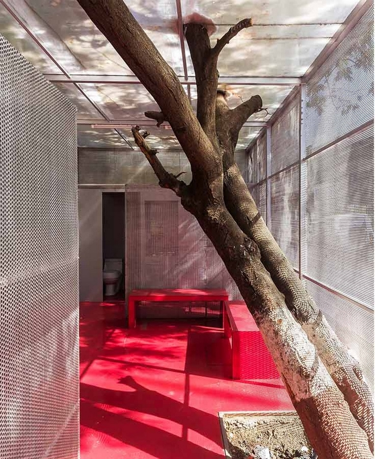 The social space within the Light Box designed by Rohan Chavan