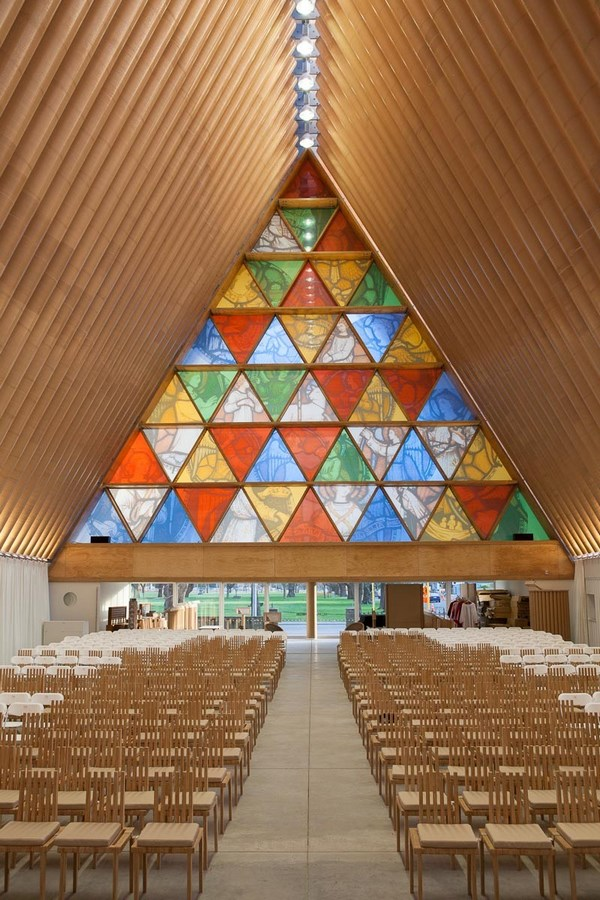 Alternative Materials- Cardboard Cathedral -5
