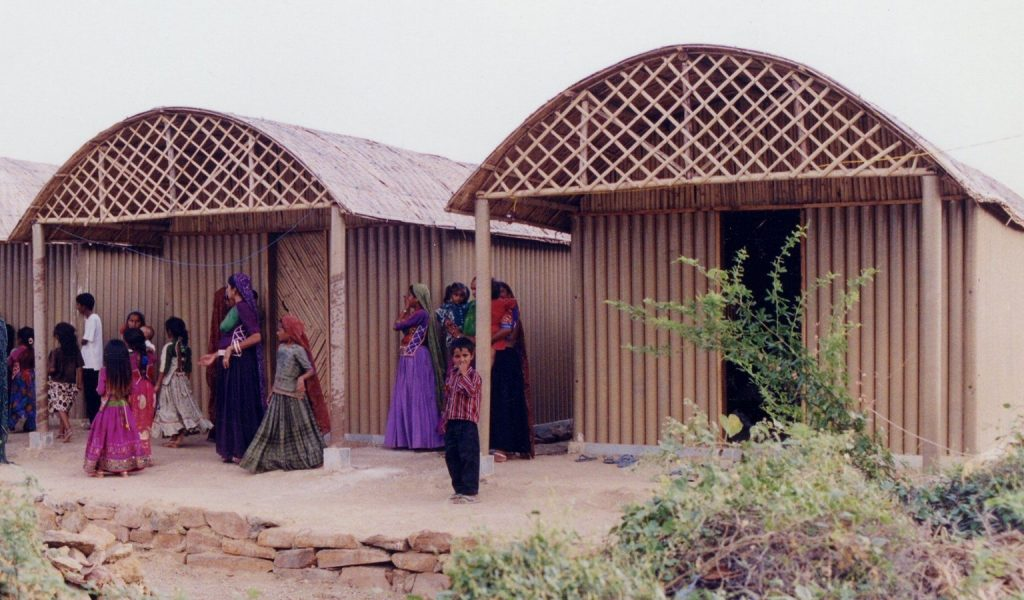 Alternative materials Cardboard- Paper Log house -1