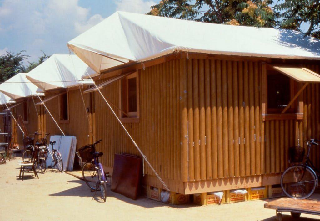 Alternative materials Cardboard- Paper Log house Kobe -3