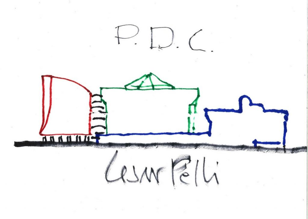 Sketches by famous architects- Cesar Pelli -1