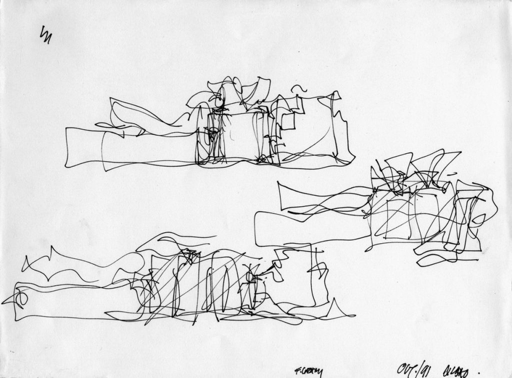 Sketches by famous architects-Frank Gehry -1