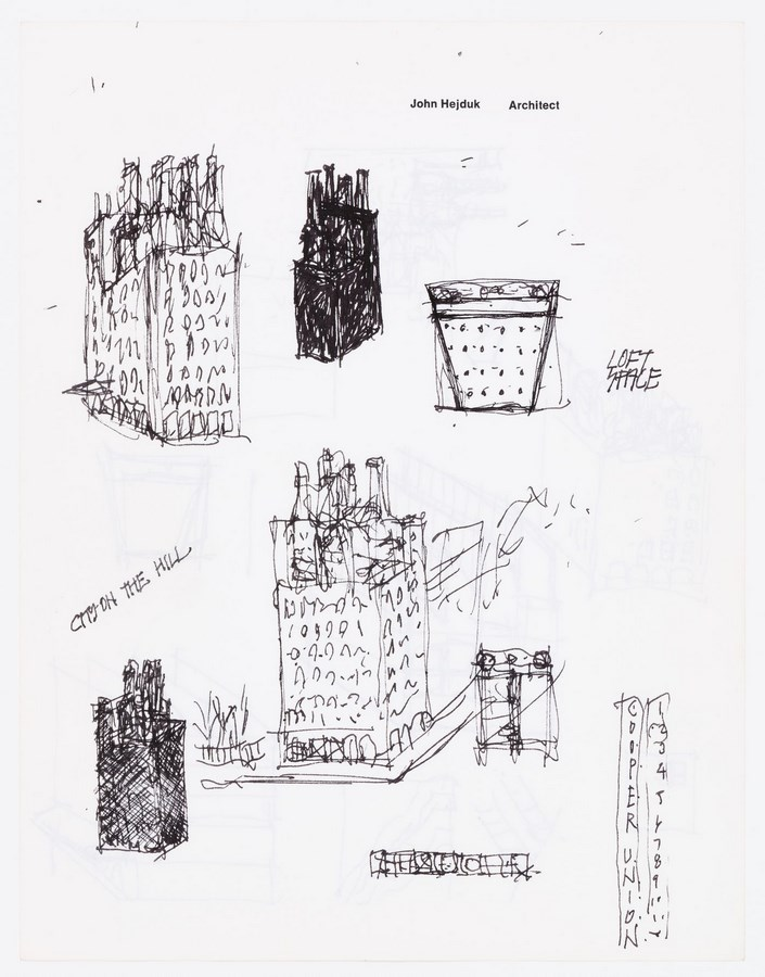 Sketches by famous architects-John Hejduk