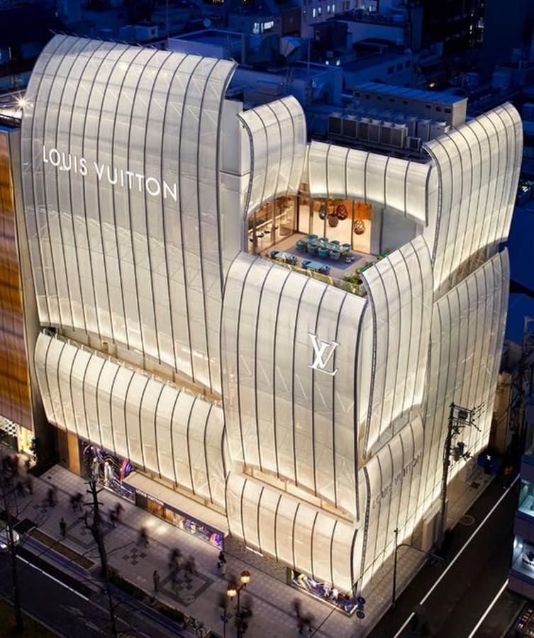 Louis Vuitton Store Osaka by Jun Aoki & Associates-An Amalgamation of Culture and Modern Architecture -1