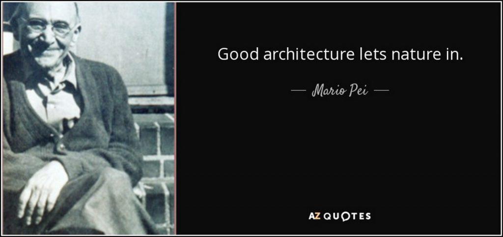 famous Quotes of Architecture- Mario Pei