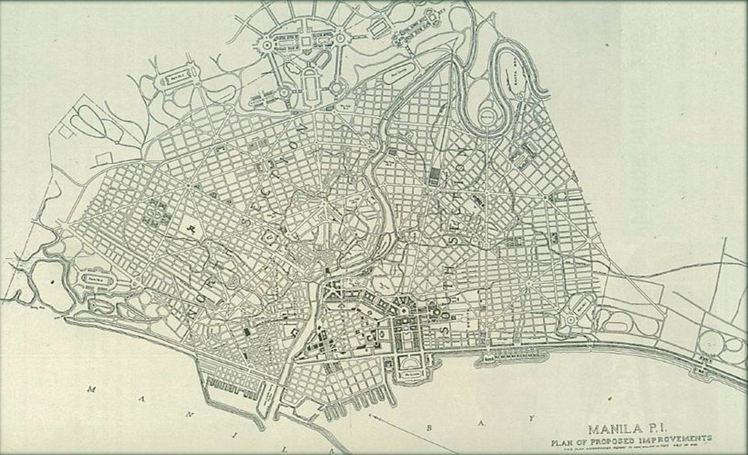 'Manila' City Planning, Philippines[1904] - Sheet2