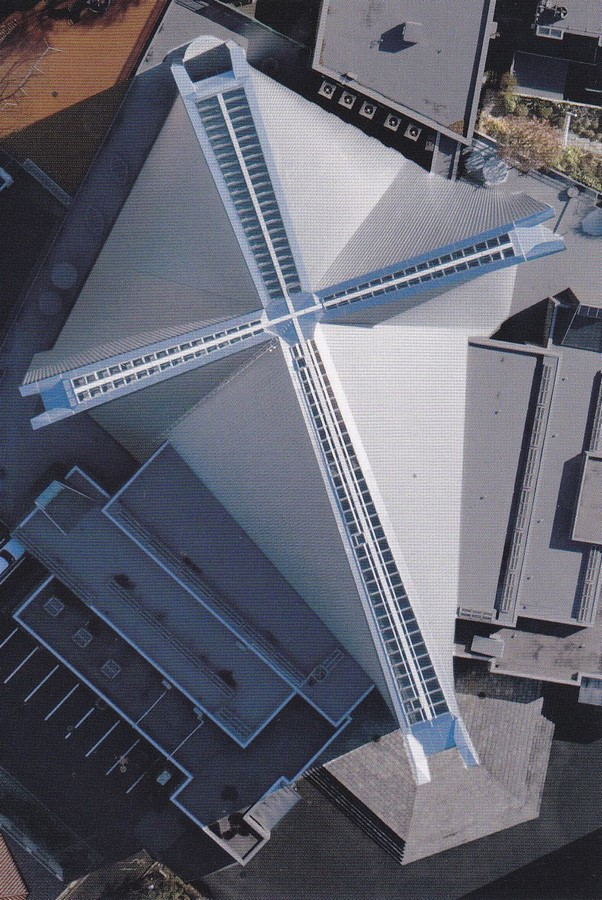 Kenzo Tange's Pritzker winning St. Mary's Cathedral, Tokyo - Sheet11