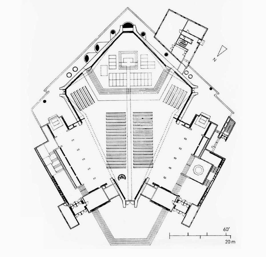 Kenzo Tange's Pritzker winning St. Mary's Cathedral, Tokyo - Sheet5