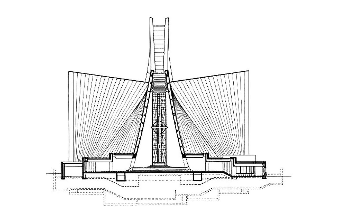 Kenzo Tange's Pritzker winning St. Mary's Cathedral, Tokyo - Sheet6