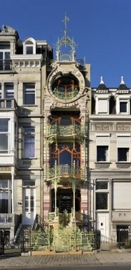 15 Examples of Art Nouveau in Architecture - Hotel Saint Cyr, Brussels