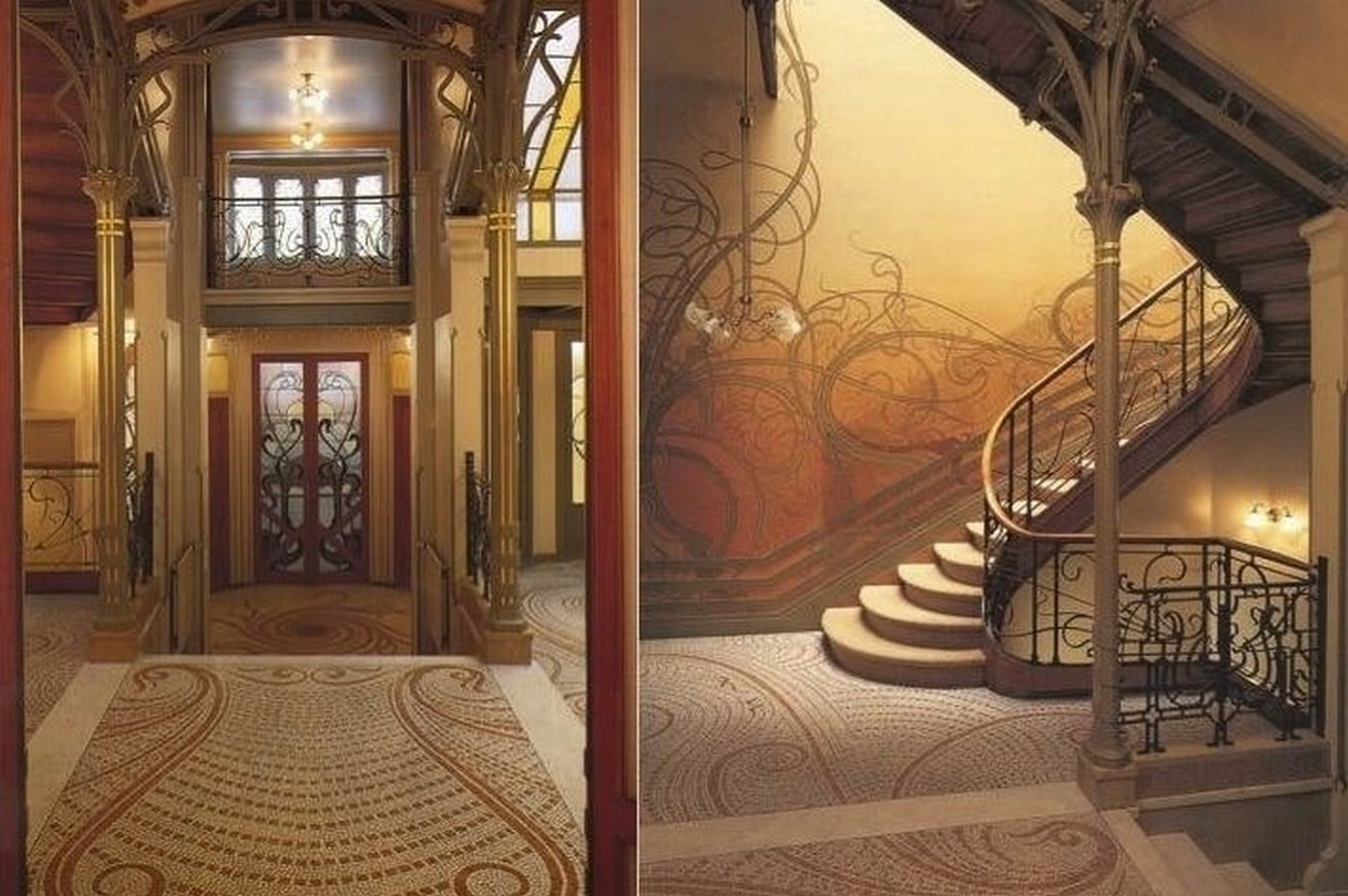 15 Examples of Art Nouveau in Architecture - Hotel Tassel, Brussels