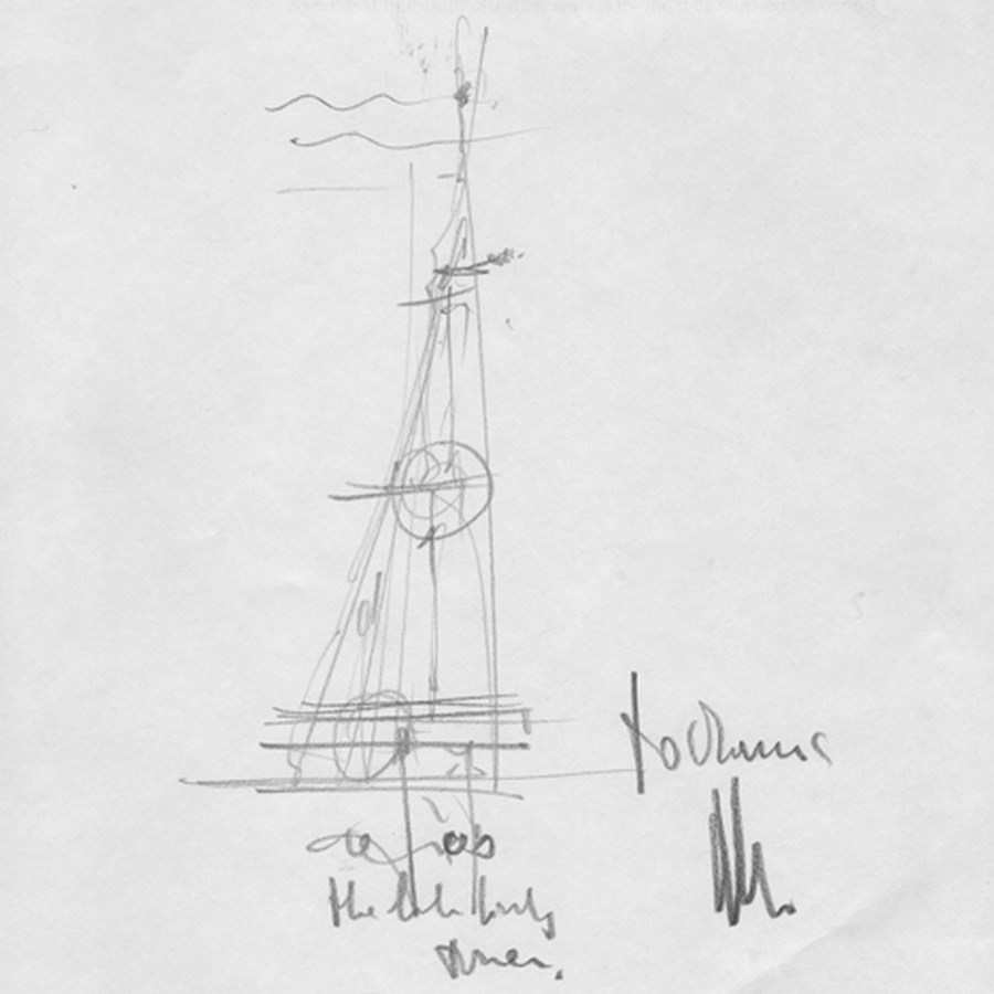 The Shard by Renzo Piano -Inspiring Change - The Shard Sketch