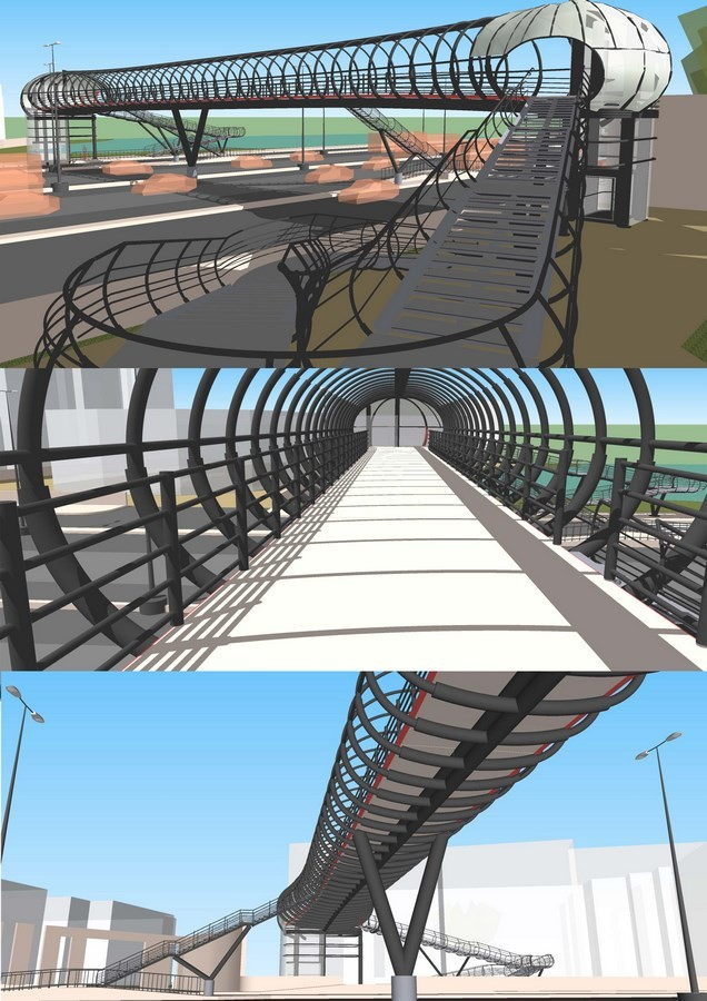 Foot-over bridge on Outer Ring Road at Bellandur, Bengaluru - Sheet1