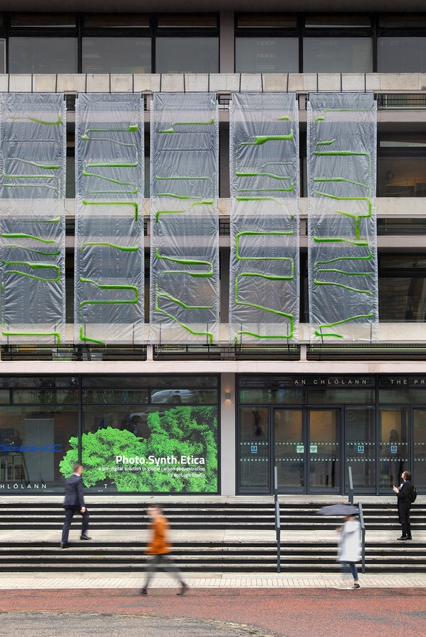 Bio-Digital Curtain filters air while creating Bioplastic - Sheet1